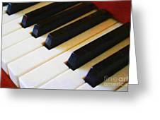 Piano Keys . V2 Greeting Card