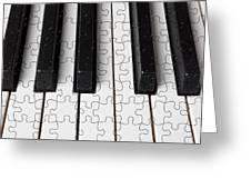 Piano Keys Jigsaw Greeting Card by Garry Gay