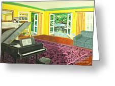 Piano Room Variation I Greeting Card