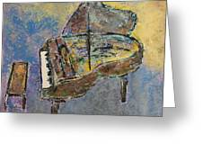 Piano Study 3 Greeting Card