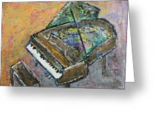 Piano Study 4 Greeting Card