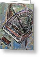 Piano Study 9 Greeting Card