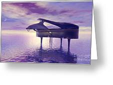 Piano's Lesson Greeting Card