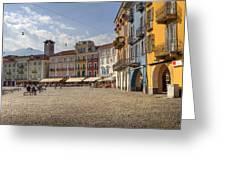 Piazza Grande - Locarno Greeting Card