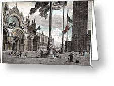 Piazza San Marco In Venice Greeting Card