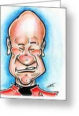 Picard Greeting Card by Big Mike Roate