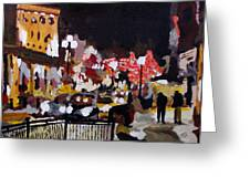Piccadilly Night Greeting Card