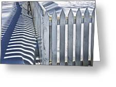 Picket Fence In Winter Greeting Card