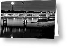 Picketted Jetty Greeting Card by Mark Lucey