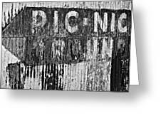 Picnic Ground Monochrome Greeting Card