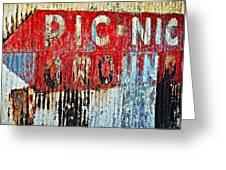 Picnic Ground Greeting Card