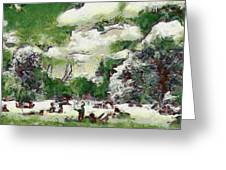 Picnic In Park Greeting Card