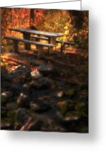 Picnic Table Greeting Card by Utah Images