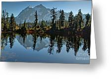 Picture Lake - Heather Meadows Landscape In Autumn Art Prints Greeting Card