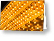 Picture Of Theater Lights Greeting Card by Paul Velgos
