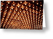 Picture Of Theater Marquee Lights Greeting Card by Paul Velgos