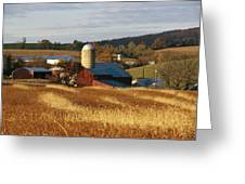 Picturesque Farm Photographed Greeting Card