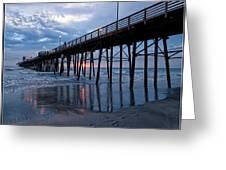 Pier At Sundown Greeting Card
