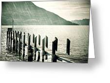 Pier Greeting Card by Joana Kruse