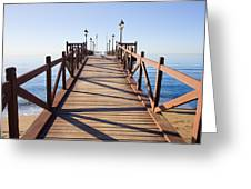 Pier On Costa Del Sol In Marbella Greeting Card