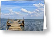 Pier On Lake Yale Greeting Card