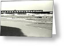 Jacksonville Beach Florida Pier 1997 Greeting Card