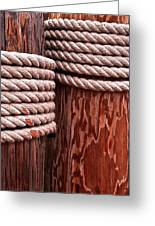 Pier Ropes Greeting Card