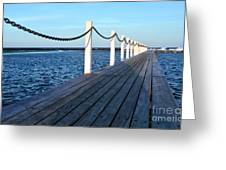 Pier To The Ocean Greeting Card