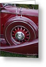 Pierce Arrow Fender Greeting Card