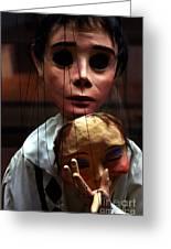 Pierrot Puppet Greeting Card