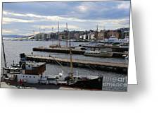 Piers Of Oslo Harbor Greeting Card