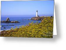 Pigeon Point Lighthouse California Coast Greeting Card
