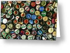 Pile Of Beer Bottle Caps . 8 To 12 Proportion Greeting Card by Wingsdomain Art and Photography