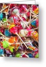 Pile Of Lollipops - Painterly Greeting Card