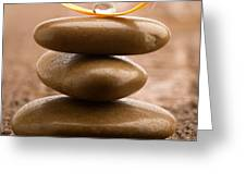 Pile Of Massage Stones Greeting Card