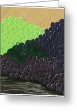 Pile Of Wine Grapes Greeting Card