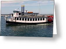 Pilgrim Belle Harbor Cruise Greeting Card