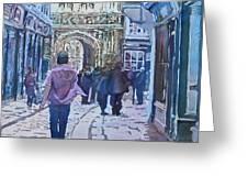 Pilgrims At The Gate Greeting Card