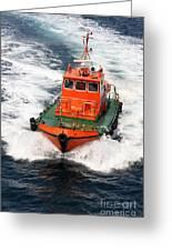 Pilot Boat - Dardanelles-canakkale Greeting Card