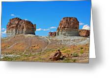 Pilot Butte Rock Formation Iv Greeting Card