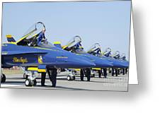Pilots Of The Blue Angels Flight Greeting Card