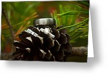 Pine Cone And Wedding Band Greeting Card