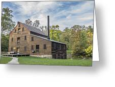 Pine Creek Grist Mill At Fall Greeting Card