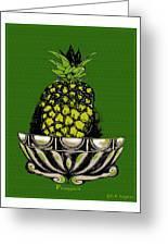 Pineapple Study  Greeting Card