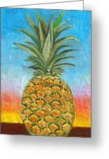 Pineapple Sunrise 2 Or Pinapple Sunset 2 Greeting Card