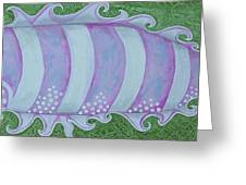 Pink And White Stylized Fantasy Fish Greeting Card