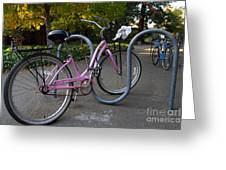 Pink Bicycle . 7d10159 Greeting Card