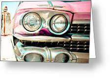 Pink Cadillac Greeting Card
