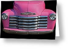 Pink Chevrolet Truck Greeting Card