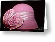Pink Cloche Hat Greeting Card